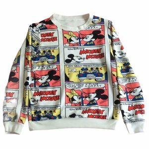 Mickey Minnie Mouse Comic Design Sweatshirt Top